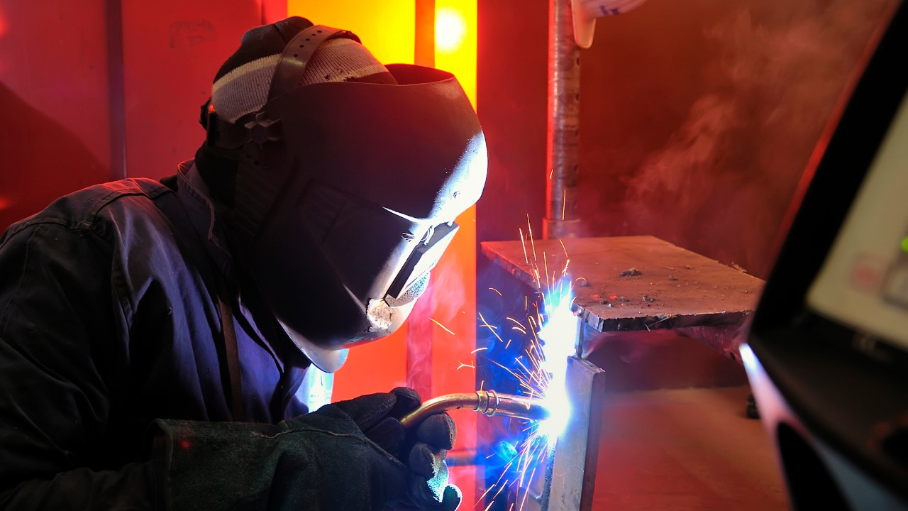 welding with mig-mag method.